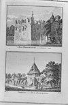 gravure van het kasteel met poortgebouw en de voorburcht uit het verheerlijkt nederland - doornenburg - 20059772 - rce