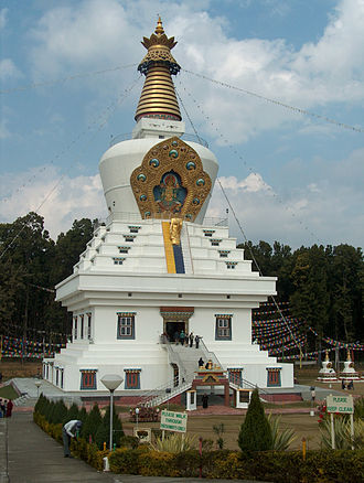 Mindrolling Monastery - The stupa of the re-established Mindrolling Monastery, in Clement Town, Dehradun.