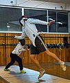 Greek Epee Fencers. On the left Agapitos Papadimitriou and on the right Aris Koutsouflakis.jpg