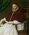 a portrait of Pope Gregory XIII by Lavinia Fontana, sixteenth century