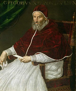 Gregorian Tower - Pope Gregory XIII (Pope from 1572 to 1585) who established the Gregorian Calendar and the Gregorian Tower.