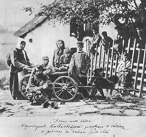 German colonists near Kamianets-Podilskyi , Poland (Russian Partition) in the end of the 19th century Greim-Drang nach osten.jpg