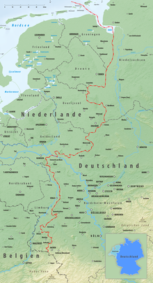 Map Of Holland And Germany.Germany Netherlands Border Wikipedia