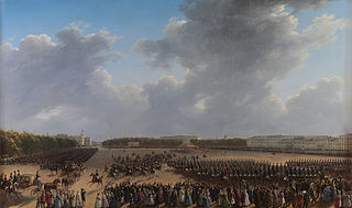 Parade Celebrating the End of Military Action in the Kingdom of Poland on Tsaritsa Meadow in St Petersburg on 6 october 1831