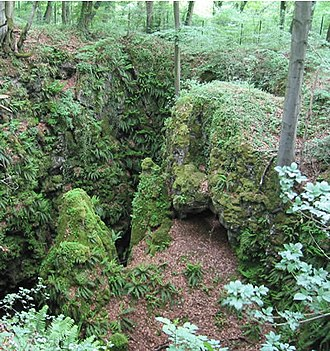 Pinge - The Pinge of an iron ore pit near Warstein