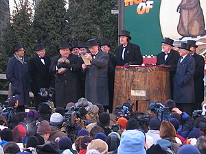 Groundhog Day 2005 in Punxsutawney, Pennsylvania