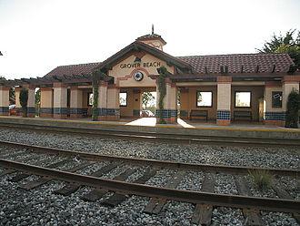 Grover Beach station - Image: Grover Train Tracks