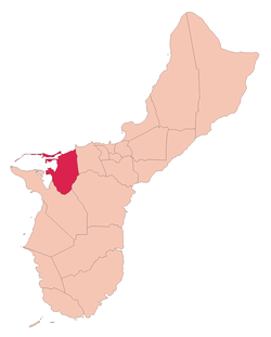 Location of Piti, Guam within the Territory of Guam.