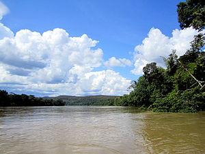 Guayabero River - Guayabero River just west of La Macarena, Meta