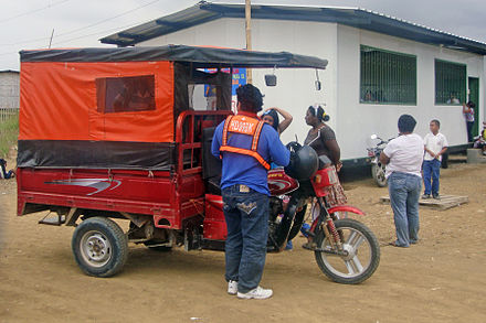 Home-made conversion mototaxi in Guayaquil, Ecuador - Auto rickshaw