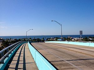 Matanzas Pass Bridge - The view of the Gulf of Mexico from the top of the bridge