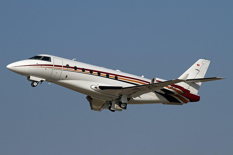 Gulfstream G200 at Hanover-Langenhagen International Airport