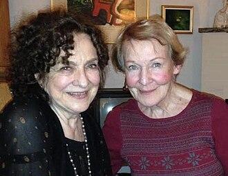 Margaretha Byström - Byström (right) at the 86th birthday party of Gunvor Pontén (left) in Stockholm, February 11 2015