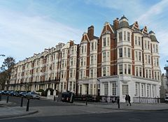 Gwydyr Mansions, Palmeira Square, Hove (from Southwest).JPG