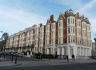 Clayton & Black - Gwydyr Mansions (1890) are in the Flemish Renaissaince style.