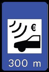 panneau portugais annon ant un tron on d 39 autoroute soumis au p age exclusivement lectronique. Black Bedroom Furniture Sets. Home Design Ideas