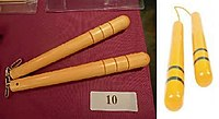 HK 灣仔 Wan Chai 馬來西亞大廈 Malaysia Building Spink Auction 李小龍 Bruce Lee 死亡遊戲 Game of Death 雙節棍 10 yellow wooden Nunchaku Dec-2013.JPG