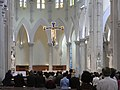HK Mid-levels Caritas Centre 聖母無原罪主教座堂(The Hong Kong Catholic Cathedral of The Immaculate Conception interior 十字架 Nov-2010.JPG