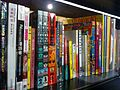 HK Wan Chai Mallory Street 灣仔 Comix Home Base 動漫基地 Library bookcase bookbacks Oct-2013 B06.JPG