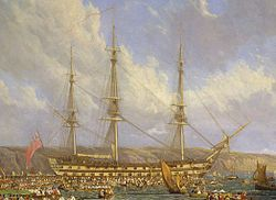 HMS Bellerophon and Napoleon-cropped.jpg