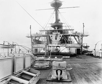 BL 12 inch Mk VIII naval gun - Image: HMS Hannibal Y turret IWM Q 039023