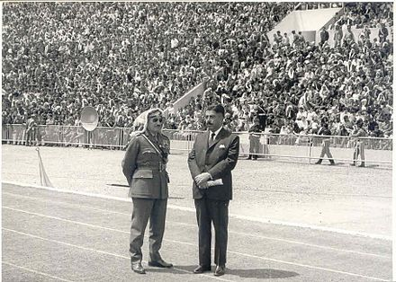Army Chief Habis Majali and Prime Minister Wasfi Tal during a military parade in 1970, two widely acclaimed national figures. HabisAlMajali&WasfiAlTall.jpg