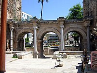 Hadrian's Gate, in Antalya, southern Turkey was built to honour Hadrian who visited the city in 130 AD.