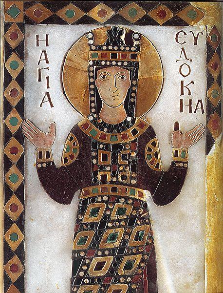 Den hellige Eudokia avbildet som helgen på et ikon fra 900-tallet