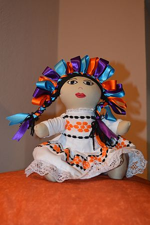 Mexican rag doll - A completely handstiched version of the doll