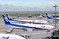 Haneda airport with Gundam jet (4891016734).jpg
