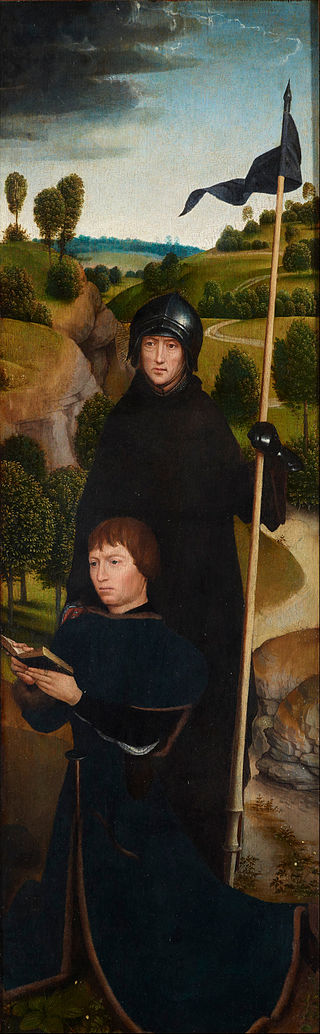 10 février Saint Guillaume de Malavalle 320px-Hans_Memling_-_Young_Man_at_Prayer_with_St._William_of_Maleval_-_Google_Art_Project
