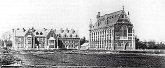 Clifton College - Big School (right) soon after it was built – 1860s
