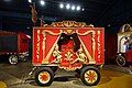 Harp and Jesters Calliope Wagon, Sullivan & Eagle Company, c. 1915, wood, iron, brass, copper - Circus Museum - John and Mable Ringling Museum of Art - Sarasota, FL - DSC00408.jpg