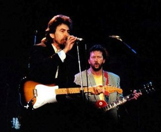 "While My Guitar Gently Weeps - Harrison and Clapton performing ""While My Guitar Gently Weeps"" at the 1987 Prince's Trust Concert in London"