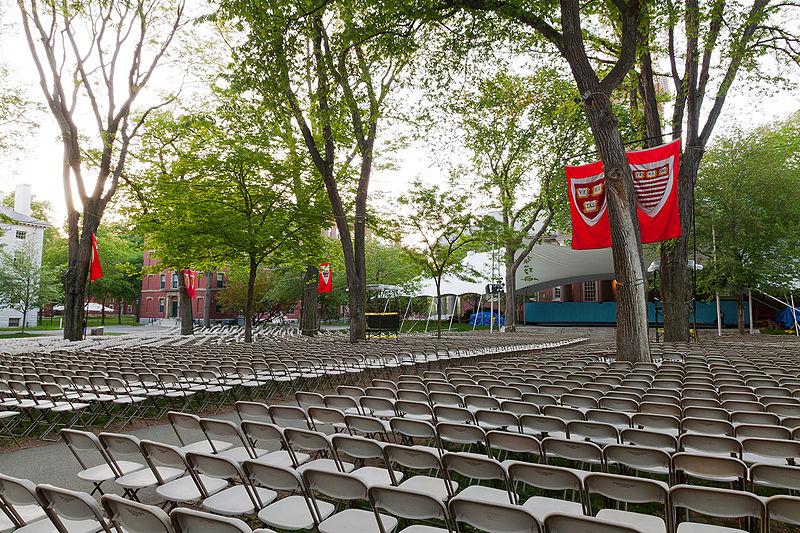 File:Harvard University graduation seating, audience perspective.jpg