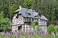 Haus in Zirkel mit Lupinen.JPG