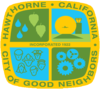 Logo officiel de Hawthorne, Californie