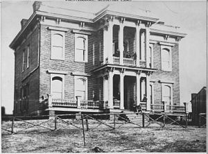 Corps of Topographical Engineers - The headquarters for the Corps of Topographical Engineers, ca. 1860-1865