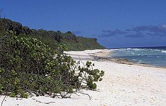 Henderson Island (Pitcairn Islands) - A view along the northern beach