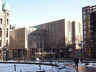 American Lutheran Church - The site of The ALC's former headquarters on South Fifth Street in Minneapolis, Minnesota, now serves as the Hennepin County Jail. The site of the publishing arm of The ALC, Augsburg Publishing House, is adjacent