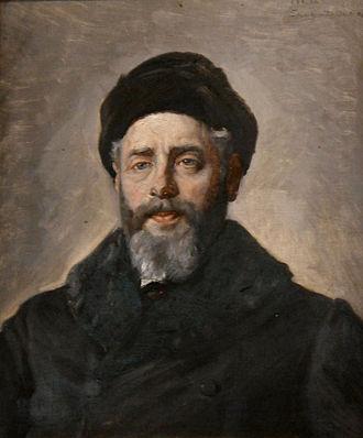 Henrik Pontoppidan - Portrait of Pontoppidan by Michael Ancher (1908)