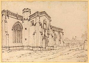 Henry Edridge - View of St. Mary's church at Taunton (1796)