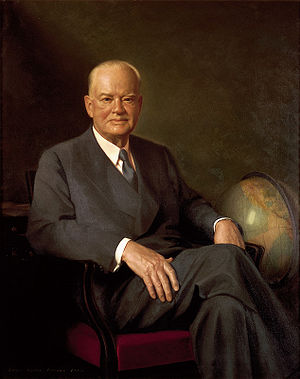 Commission for Polish Relief - Hoover's official White House portrait painted by Elmer Wesley Greene.