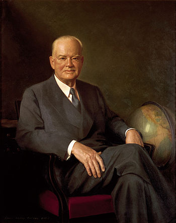 Hoover's official White House portrait painted...