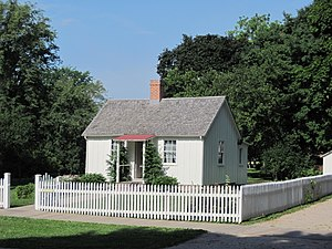 Herbert Hoover - Herbert Hoover birthplace cottage, West Branch, Iowa