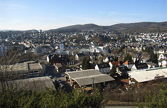 Herborn, Hesse - A view of Herborn from the east
