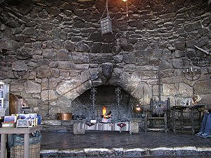 Hermits Rest - Fireplace inside Hermit's Rest