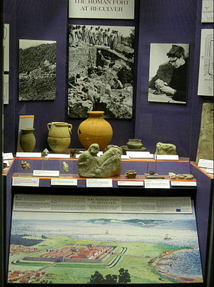 Regulbium - Herne Bay Museum display centred on the Roman fort at Reculver