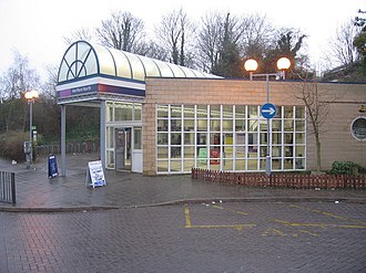Hertford North railway station - The street-level entrance to the station
