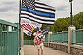 Highway 100 Pedestrian Bridge Conservative Flag Activist (29507760416).jpg